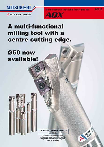 AQX-Multi functional Indexable Insert End Mill