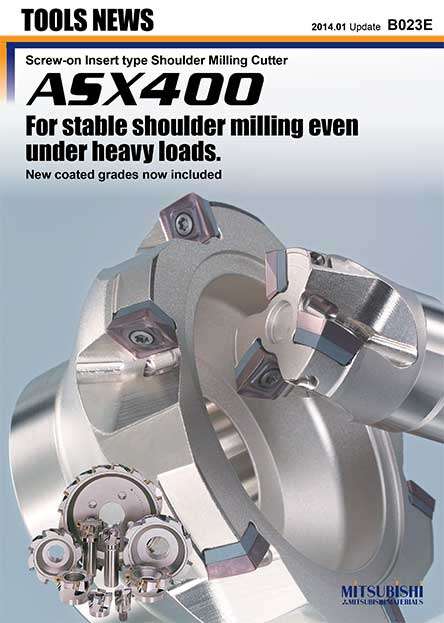 ASX400-Screw-on Insert type Shoulder Milling Cutter