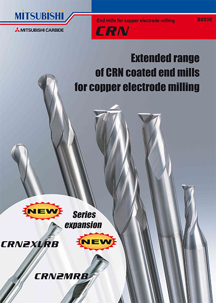 CRN-End mills for copper electrode milling