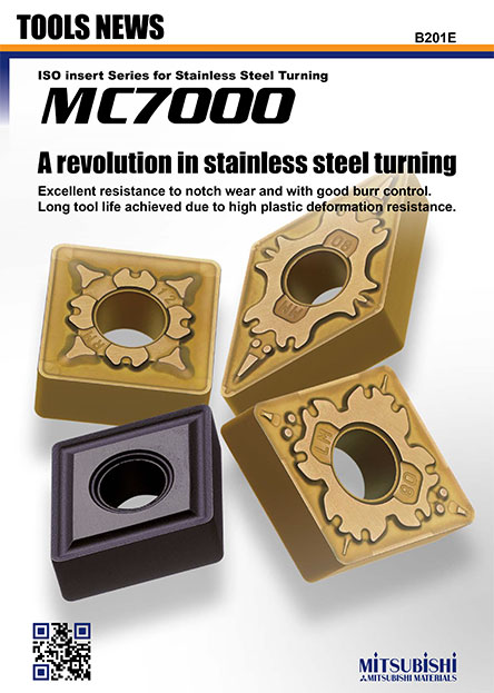 MC7000-ISO insert Series for Stainless Steel Turning